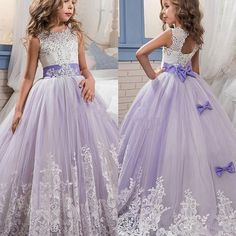 eb7ff99be4 US $125.0 |Aliexpress.com : Buy Lavender Lilac Flower Girl Dresse 2017  Princess Ball Gown Appliques Beaded Sequined Tulle Kids Formal Gowns  Christmas Dress ...