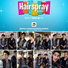 @garrettclayton1 takes Darren Criss BTS of @HairsprayLive
