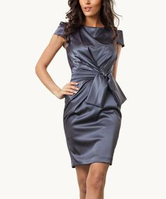 For an elegant evening, choose this fancy frock. Its lustrous fabric will shine all through the night, complementing the constellations.