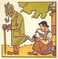Josef Lada, Kalamajika - Rikadla a drobne pribehy, 1936 The Good Soldier Svejk, Fractured Fairy Tales, Commercial Art, Word Pictures, Pattern Illustration, Conte, Illustrators, Book Art, Modern Art