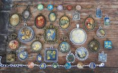 Steampunk and Pebeo Jewelry from MadDollStudio Polymer Clay Creations, Ooak Dolls, Turquoise Bracelet, Steampunk, Etsy Seller, Creative, Ideas, Jewelry, Jewlery