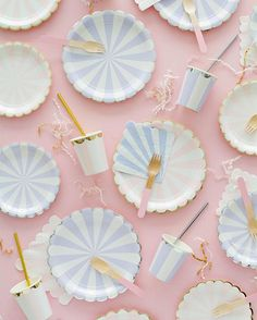 New pale purple and dusty pink plates and cups added to the Oh Happy Day Shop!