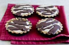 Raw Smore's Tartlets with Marshmallow Root Cream and Chocolate (dairy free, gluten free, soy free, and vegan optional)