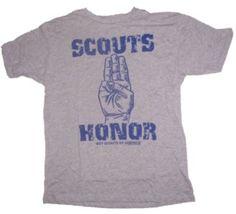 Junk Food Mens Boy Scouts Scouts Honor T-Shirt