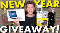 HUGE 2016 GIVEAWAY w/MacBook, GoPro, Instax & MORE!! | Collins Key
