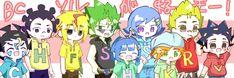 Anime Friendship, Anime Family, Beyblade Characters, Beyblade Burst, Evolution, Chibi, Family Guy, Cartoon, Comics