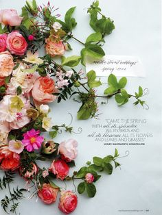 fresh floral invitation (with wedding colors)