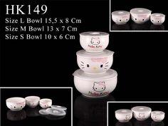 set-bowl Hello Kitty Kitchen, Mugs, Tableware, Dinnerware, Tumblers, Tablewares, Mug, Dishes, Place Settings