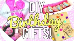 DIY Birthday Gifts!! Easy & Cheap!