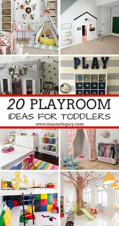 Here are 20 fantastic playroom ideas for toddlers, from bright to neutral colors, there are so many fun ideas to help you design a creative space for Playroom Design, Playroom Decor, Playroom Colors, Playroom Layout, Colorful Playroom, Kid Decor, Decor Ideas, Toddler Playroom, Kids Playroom Ideas Toddlers