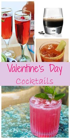 Enjoy one of these Valentine's Day Cocktail Recipes made with vodka, rum, tequila or champagne at home before heading out to celebrate the day of love.