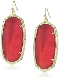 Kendra Scott Danielle Gold Burgundy Illusion Drop Earrings -- Click on the image for additional details. (Amazon affiliate link)