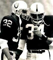Bo jackson Marcus Allen Los Angeles Raiders Oakland Raiders Silver and Black Heisman Trophy Winners