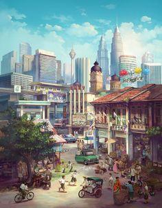 """Chong FeiGiap, Malaysia - """"Petronas Malaysia""""  http://feigiap.daportfolio.com/ http://feigiap.deviantart.com/"""