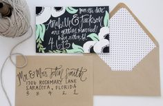 Love handwritten/hand drawn invitations. And aneomes, oh my!