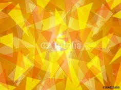 Abstract triangle shapes randomly layered, in fresh sunny yellow shades with bright center, graphic art, vector illustration in modern contemporary art design. Suitable as background texture pattern. Yellow Shades, Triangle Shape, Textures Patterns, Textured Background, Royalty Free Images, Modern Contemporary, Graphic Art, Bright, Stock Photos