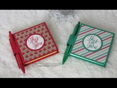 Crafty Christmas Countdown #16 – Post it Note Book Using Tin of Tags stamp set : Intatwyne Designs