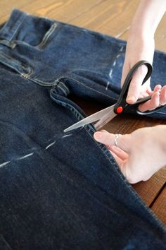 DIY Cut-Off Shorts. I have some old jeans to refashion!