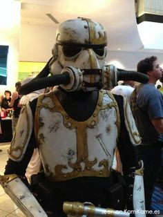 "sakafai: "" Cool Steampunk Stormtrooper cosplay by Brian inspired by a 3D design by Albert Feliu. """