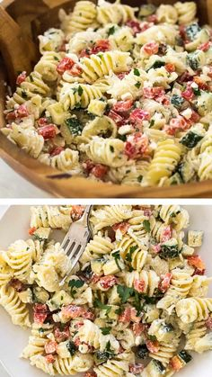 This healthy Greek pasta salad recipe is a perfect way to amaze your family in a healthy way! It has a creamy Greek yogurt dressing which will be your new favorite salad. Save this pin for later! salad with italian dressing Creamy Pasta Salads, Healthy Pasta Salad, Greek Salad Pasta, Pasta Salad Italian, Healthy Pastas, Healthy Salad Recipes, Dressing For Pasta Salad, Pasta Salad Recipes Cold, Cold Macaroni Salad