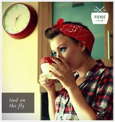 Bandana style, for Picnic Week on Camille Styles