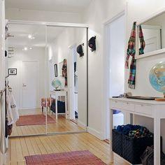 mirrored hallway door