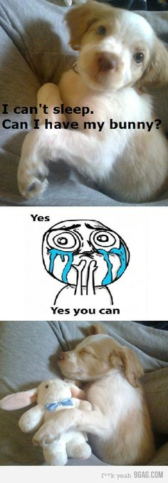 """""""I can't sleep. Can I have my bunny?"""" """"Yes. Yes you can.""""    SQUEEE!!! ^_^"""