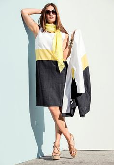 que es un personal shopper  - vestido color block