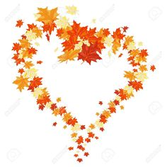 Autumn Maples Falling Leaves Background. Royalty Free Cliparts ...