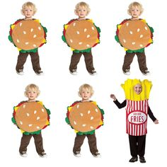 Got a big brood under your roof? Five Guys burgers is one of the fastest-expanding fast food joints, and kids love it. Dress your lil guys up in hamburger costumes ($23) and throw in some fries ($37) for a group costume that is sure to garner some chuckles.
