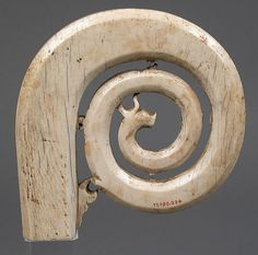 Crozier Head Date: 12th–13th century Culture: Italian Medium: Ivory Dimensions: Overall: 4 3/4 x 4 3/4 x 3/4 in. (12 x 12 x 1.9 cm) Classification: Ivories