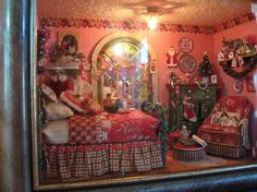 Miniatures by Sandra. Great mix of red patterned fabric.