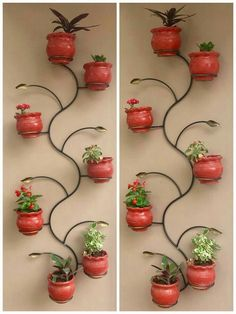 House Plants Decor, Plant Decor, Landscape Stairs, Indoor Water Garden, Vertical Garden Wall, Diy Plant Stand, Mosaic Garden, Flower Stands, Plant Shelves