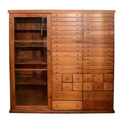 Vintage Elaborate Apothecary Cabinet with 44 Drawers | nyshowplace.com