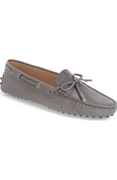 Women's Tod's 'Heaven' Tie Front Driving Moccasin, Size