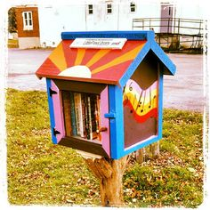Mary Lupien. Rochester, NY. This Little Free Library was donated to Lots of Food (lotsoffood.org) to install in our garden site at the Flying Squirrel Community Space () in Rochester, NY. We stocked our library full of books on gardening, cooking and music.