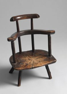 Exceptional Welsh Child's Primitive Comb Back Chair - Robert Young Antiques