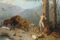 """Gustave Surand (French, 1860-1937), """"Orpheus Charming the Animals"""""""