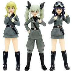 Girls und Panzer: This is the Real Anzio Battle! Anzio High School Figure Set Macaroni Strategy - 1/35 Scale