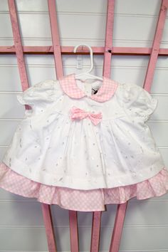 Vintage baby clothes baby girl dress by OnceUponADaizy on Etsy, $16.00