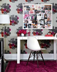 belle maison: Home Tour: Colorful, Girly & Chic