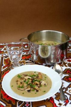 Gombakrémleves Thai Red Curry, Soup, Ethnic Recipes, Soups