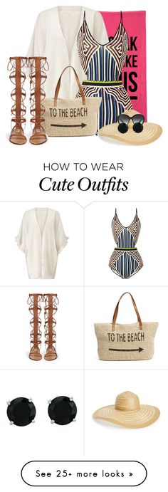 """I Soak Up Like This!"" by b-femmefatale-b on Polyvore featuring Jigsaw, Clover Canyon, Straw Studios, Nordstrom, Bulgari, BillyTheTree and onepieceswimsuit"