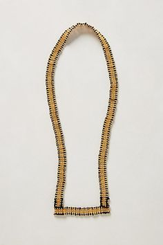 Galvanized Ribbon Necklace #anthropologie