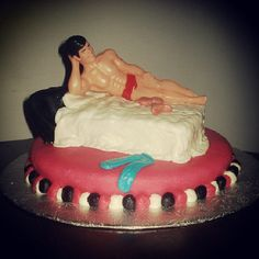another early attempt at a bachelorette cake #PotentialistCanada