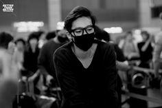 Airport, Kim Jinwoo #winner #jinwoo #kpop #YG #blackandwhite