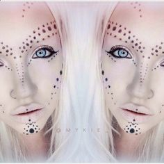 alien makeup - Google Search                                                                                                                                                     More