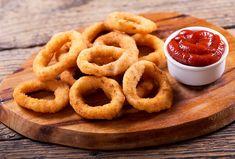 Smažené cibulové kroužky Air Frying, Milkshakes, Onion Rings, Coca Cola, Easy, Snacks, Classic, Ethnic Recipes, Beignets