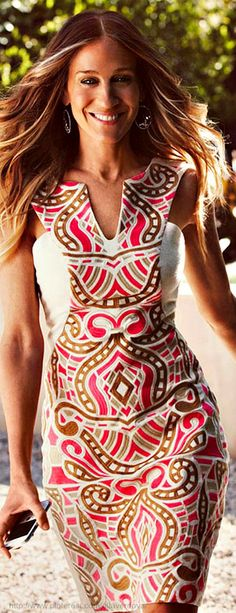 I love this outfit Sarah Jessica Parker for Maria Valentina 2014