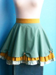 It is an apron but is great inspiration for a skirt/dress.